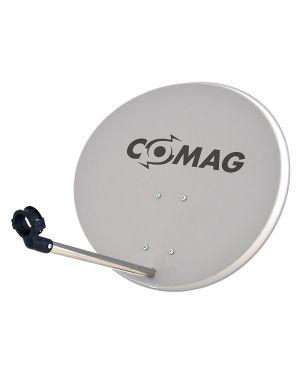 Comag 57cm Antenne Stahl/Stahl lichtgrau mit Aufdruck