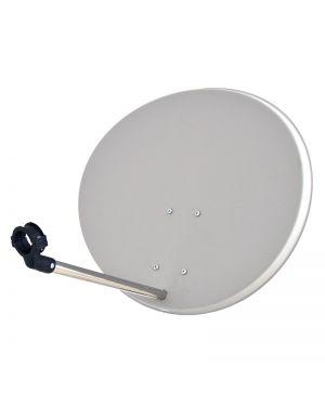 Micro Spiegel 57 cm Stahl/Stahl hellgrau